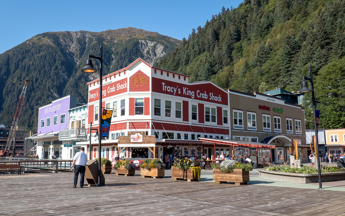 Colourful shops in Juneau Alaska
