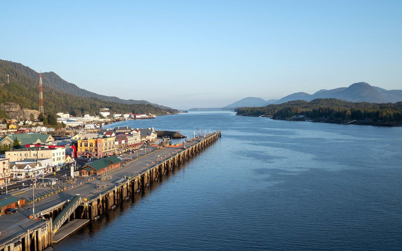 Sunset in Ketchikan Alaska cruise port