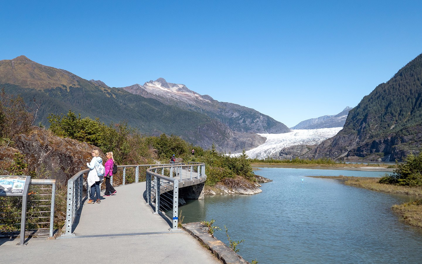 The Mendenhall Glacier near Juneau