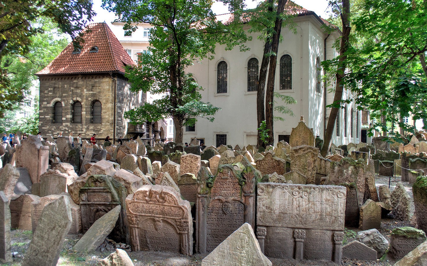 Gravestones in the Old Jewish Cemetery, Prague