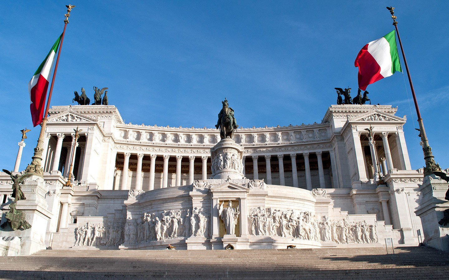 The Vittorio Emanuele II Monument in Rome