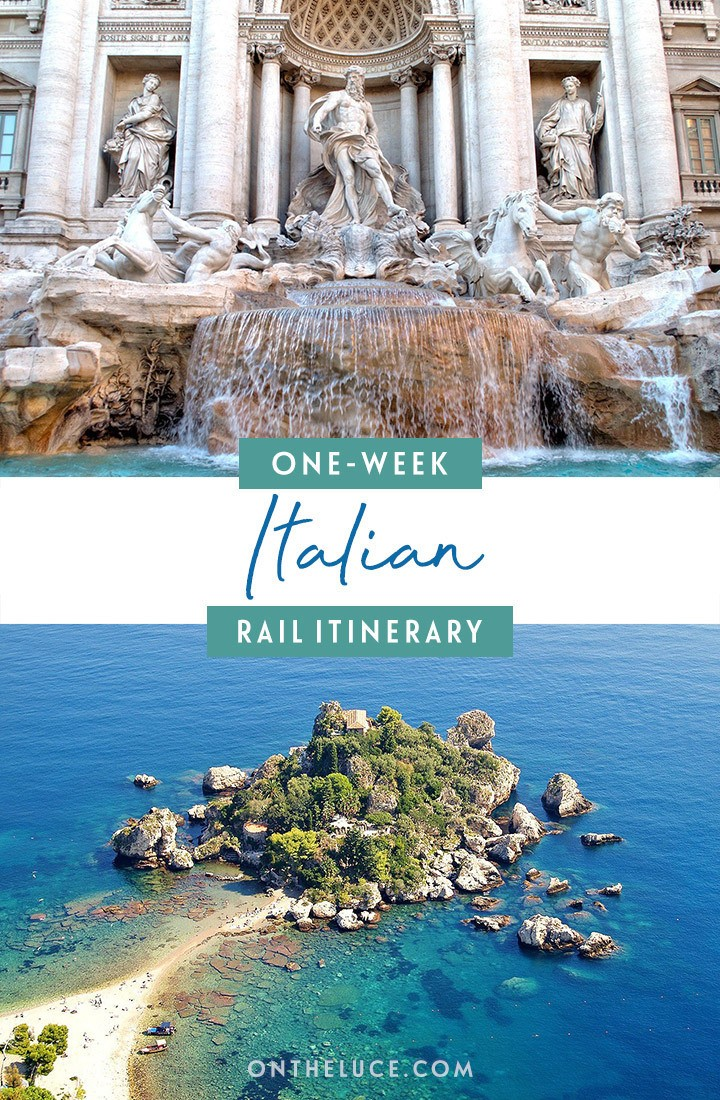 One-week Italy by train itinerary from Venice to Sicily, with what trains to take, how much they cost, how to book and what to see along the way. #Italy #interrail #europe #train #rail