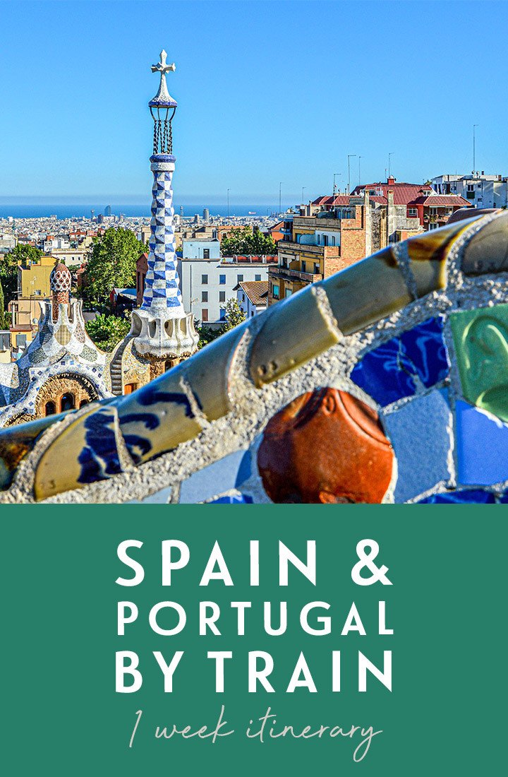 Spain and Portugal by train: A one-week rail itinerary full of delicious food and drink, travelling from Barcelona to Valencia, Madrid, Lisbon and Porto. #interrail #europe #train #rail #spain #portugal