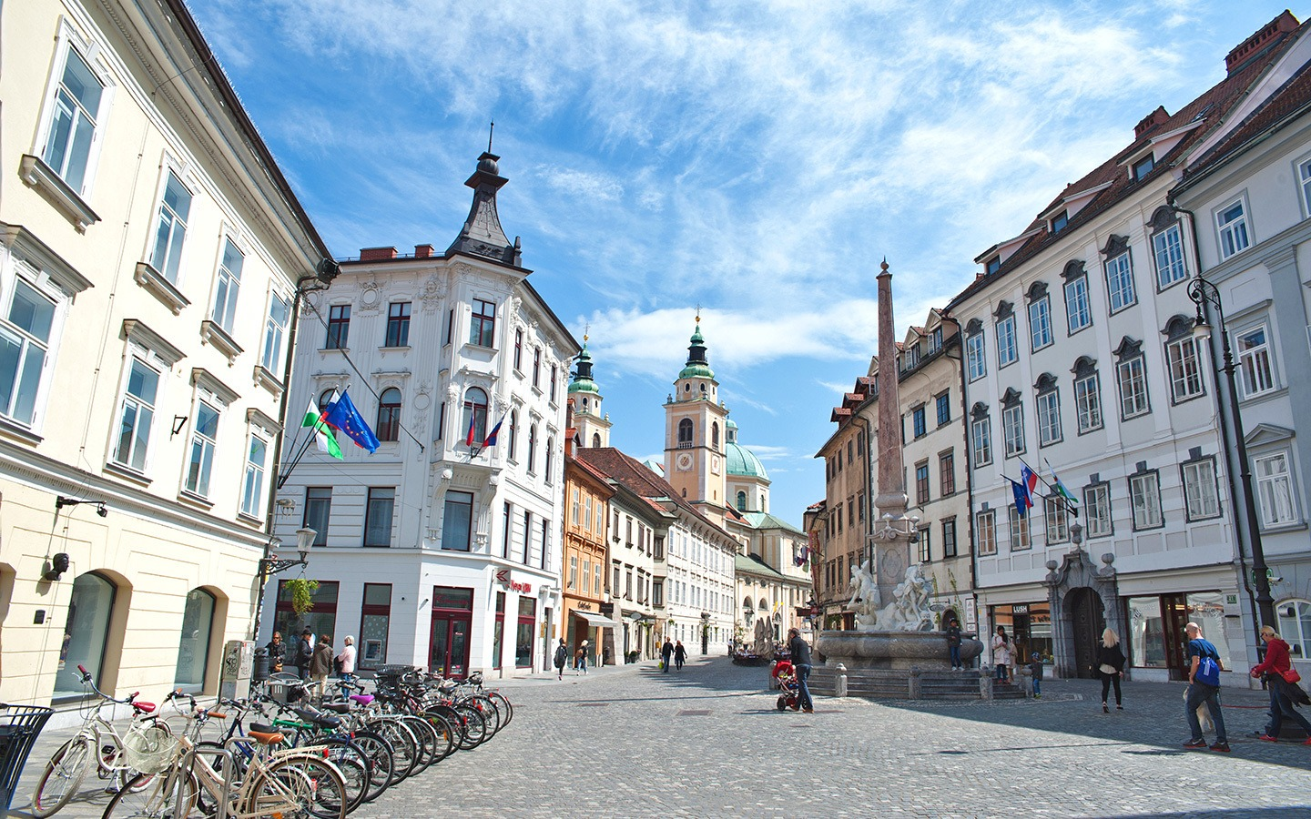 The streets of Ljubljana's old town