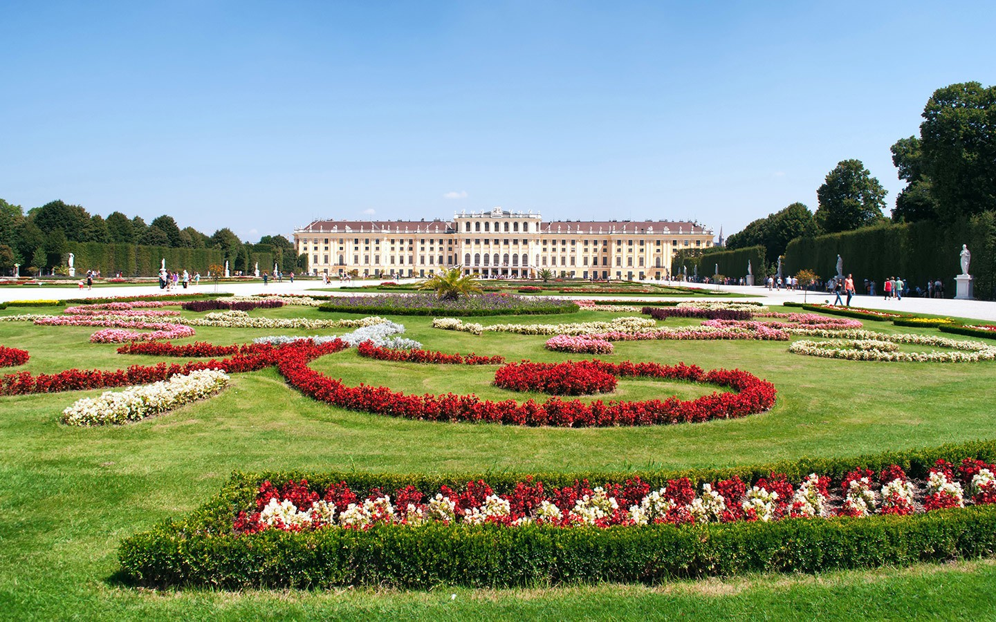 The Schönbrunn Palace and gardens in Vienna, Austria