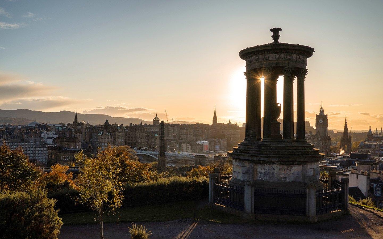 Sunset at Calton Hill, Edinburgh