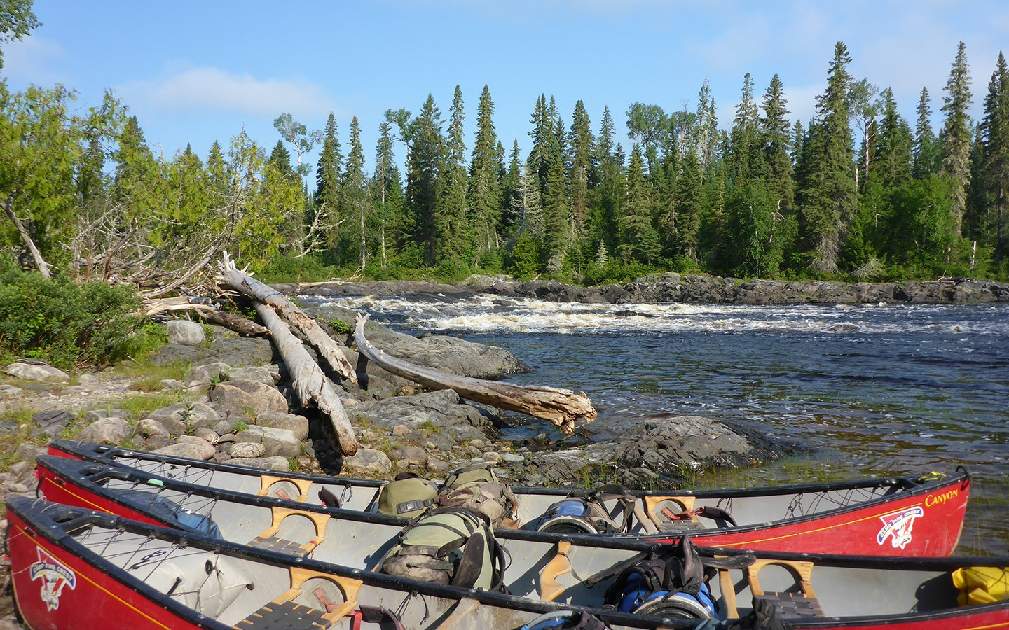 Canoes at Missinaibi Provincial Park