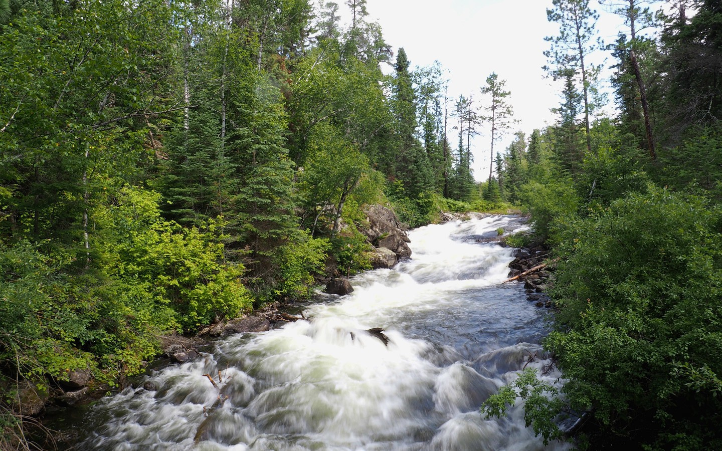 River flowing at Rushing River Provincial Park, Ontario