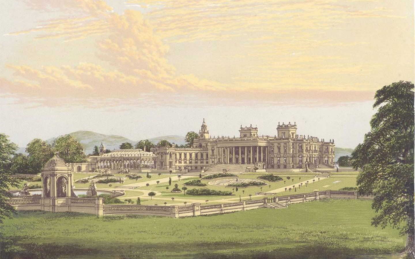 Illustration of Witley Court in 1880