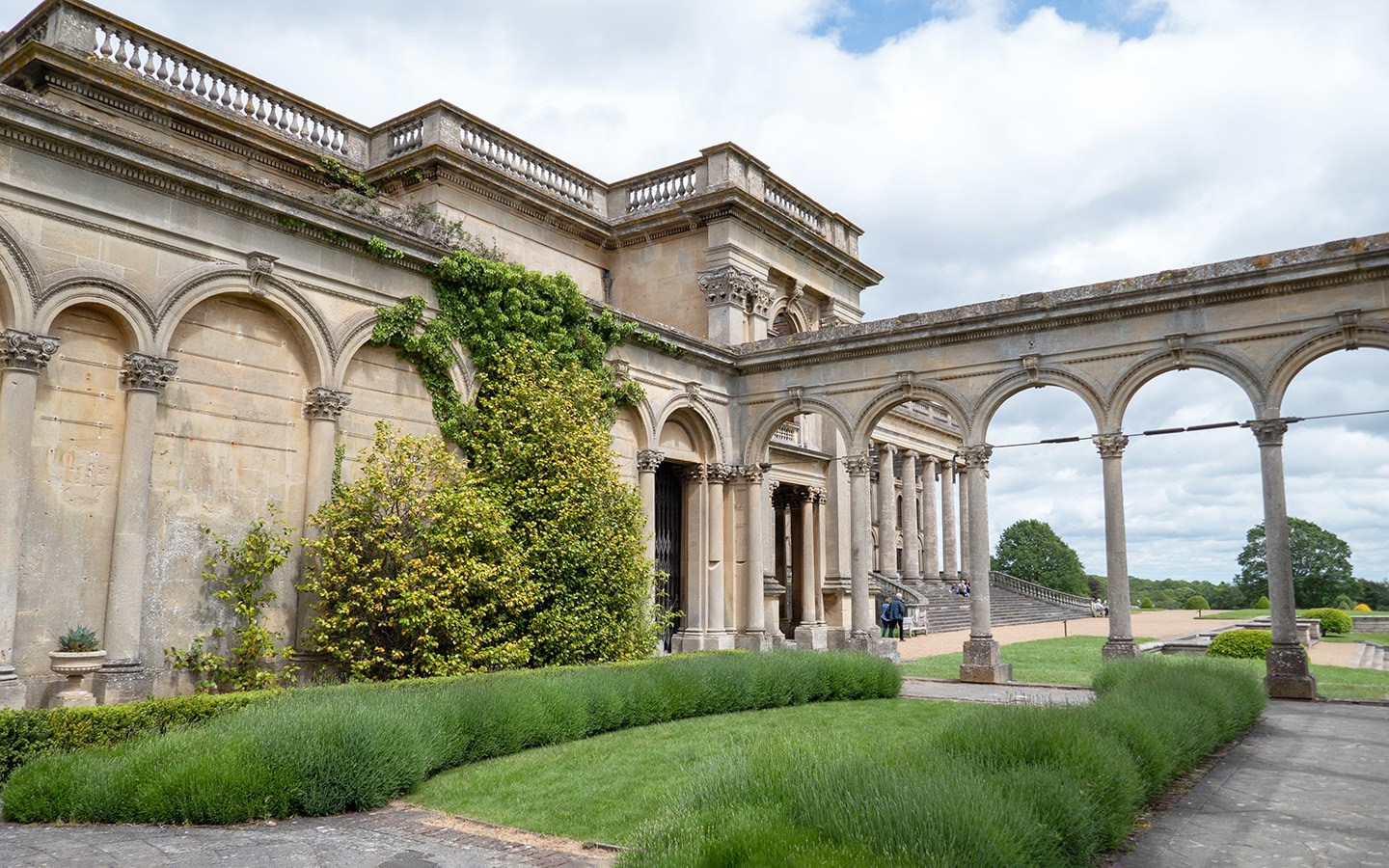 The ruined orangery at Witley Court in Worcestershire