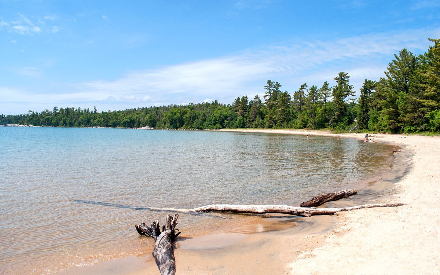Beach at Lake Superior Provincial Park in Ontario