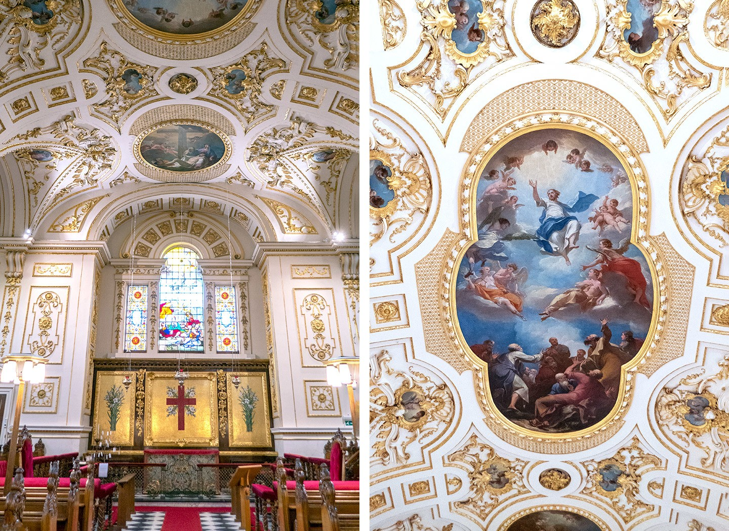 The Baroque interiors of Great Witley Church