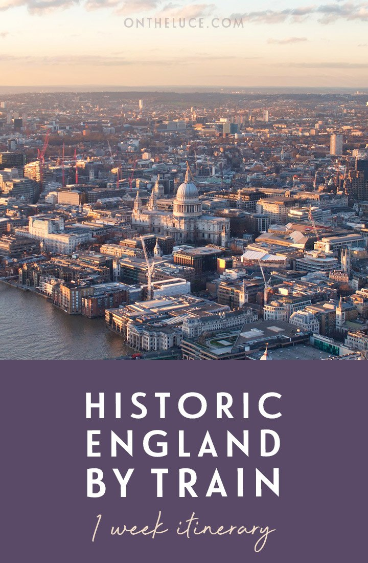Historic England by train: A one-week rail itinerary from London to Salisbury, Bath, Oxford, Stratford and York, visiting castles, cathedrals and colleges | Rail itinerary | UK by train | #uk #england #train #rail