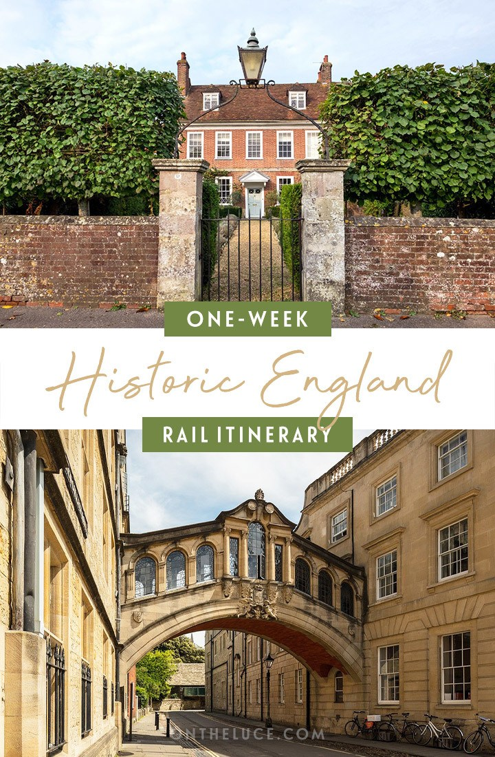 One-week Historic England by train itinerary from London to York, with what trains to take, how much they cost, how to book and what to see along the way | Rail itinerary | UK by train | #uk #england #train #rail
