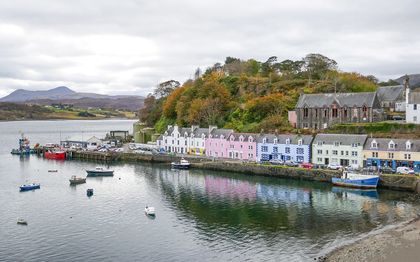 Portree harbour on the Isle of Skye