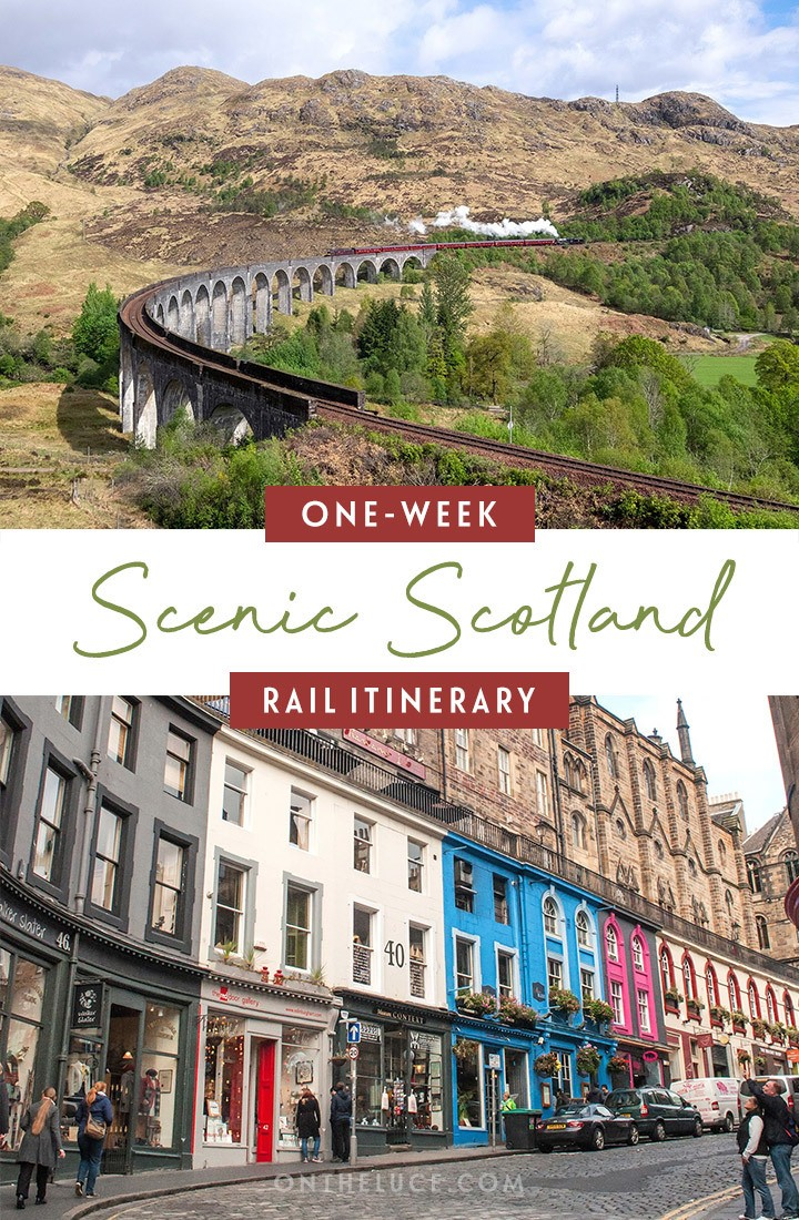 Visiting Scotland by train – a one-week scenic Scottish rail trip itinerary, featuring, Edinburgh, Glasgow, Fort William, the Isle of Skye and Inverness, with details of what trains to book, how much they cost and what to see and do | Scotland by train | Visit Scotland | Scotland itinerary