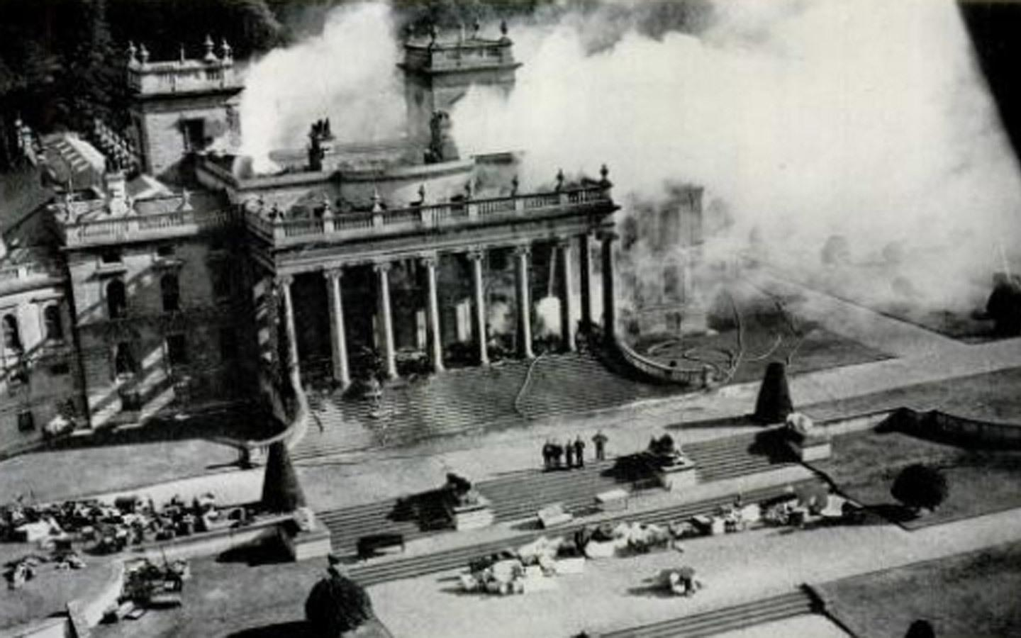 The Witley Court fire in 1937