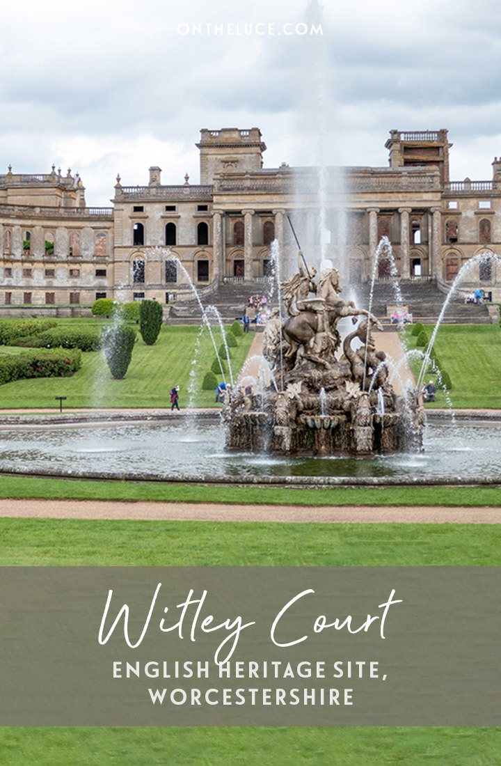 Visiting the English Heritage site of Witley Court and Gardens in Worcestershire – a lavish Victorian country house left ruined by fire which makes a great UK day trip | Days out in England | English Heritage sites | Things to do in Worcestershire