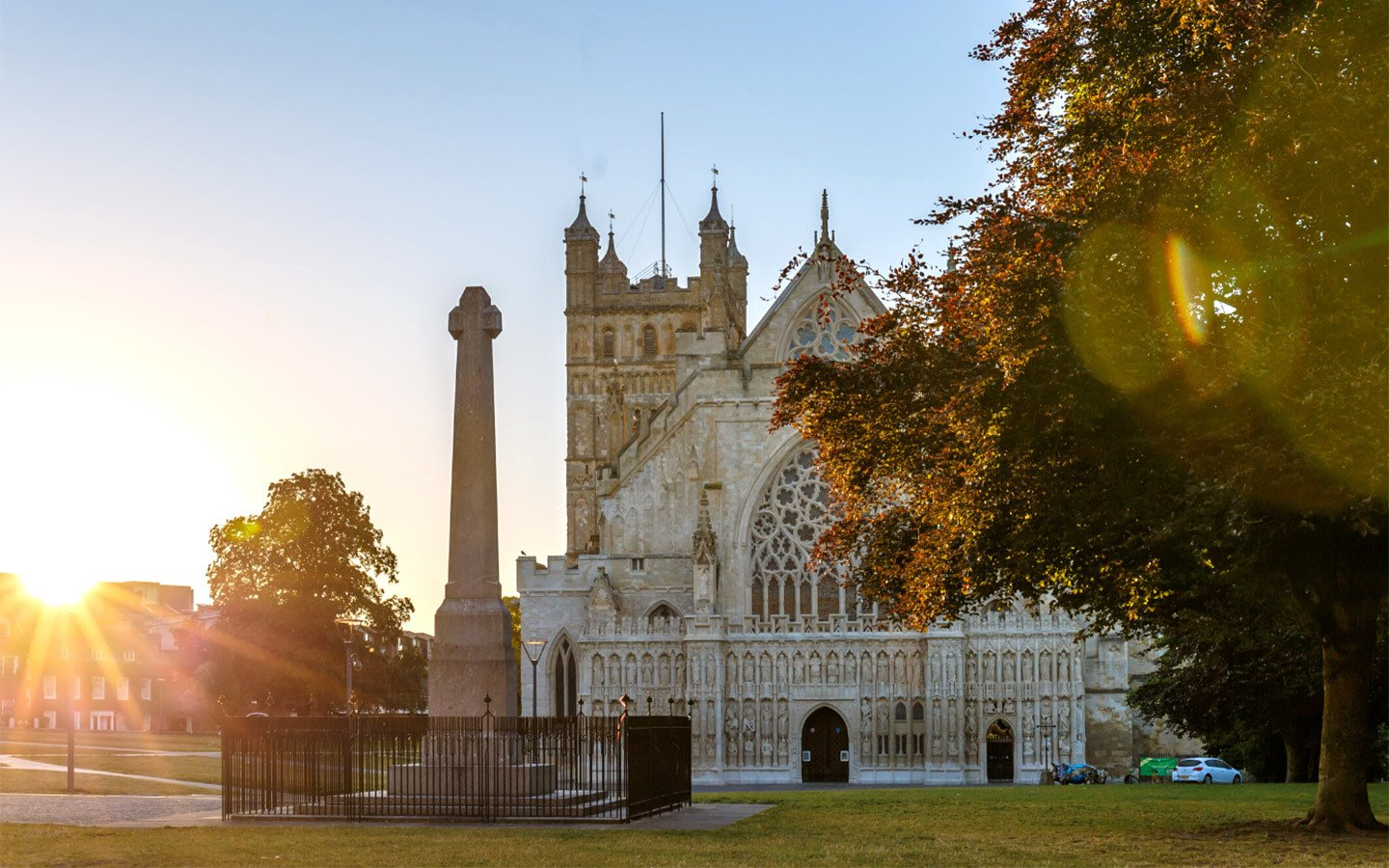 Exeter cathedral in Devon