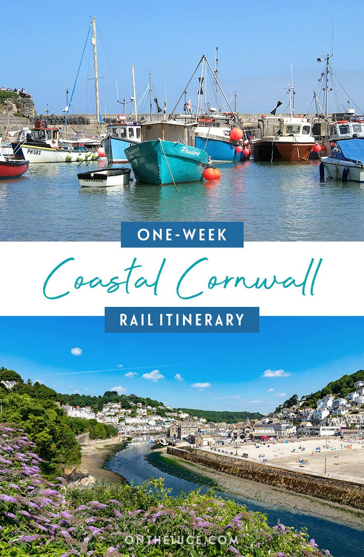 Visiting Cornwall by train – a one-week scenic Cornish coast and countryside rail trip itinerary, featuring, St Ives, Falmouth, the Eden Project, Newquay, Looe and Plymouth, with details of what trains to book, how much they cost and what to see and do | Cornwall by train | Visit Cornwall | Cornwall itinerary