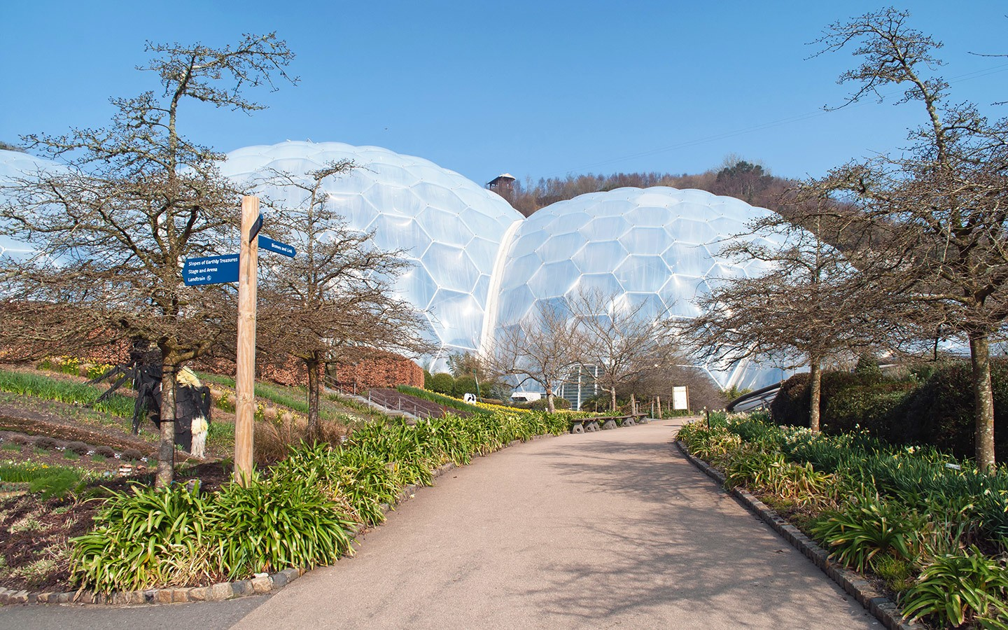 Biomes at the Eden Project in St Austell, Cornwall