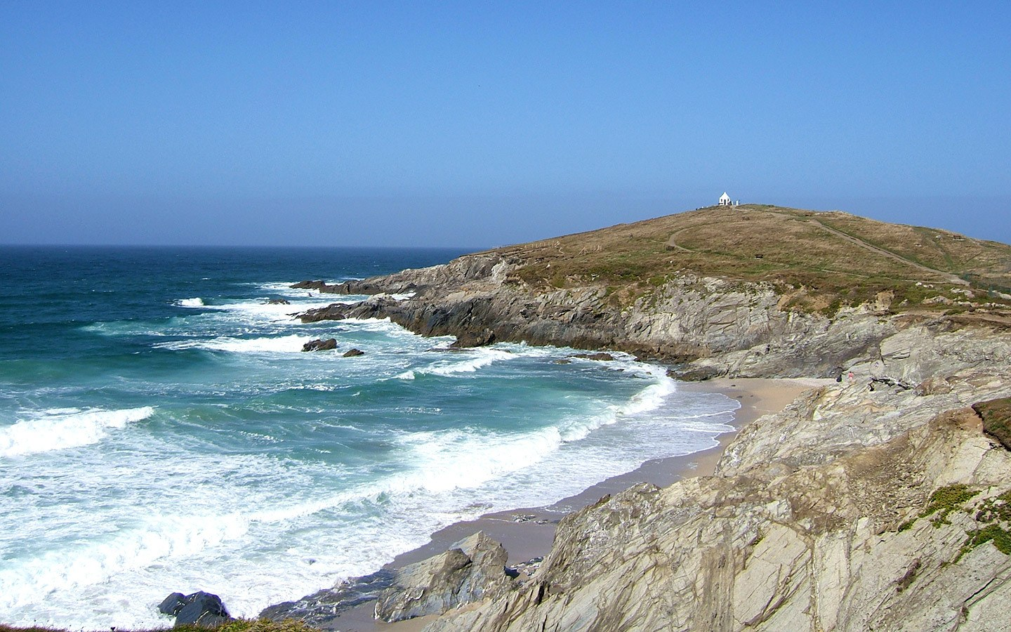 Coastal walk in Newquay, Cornwall