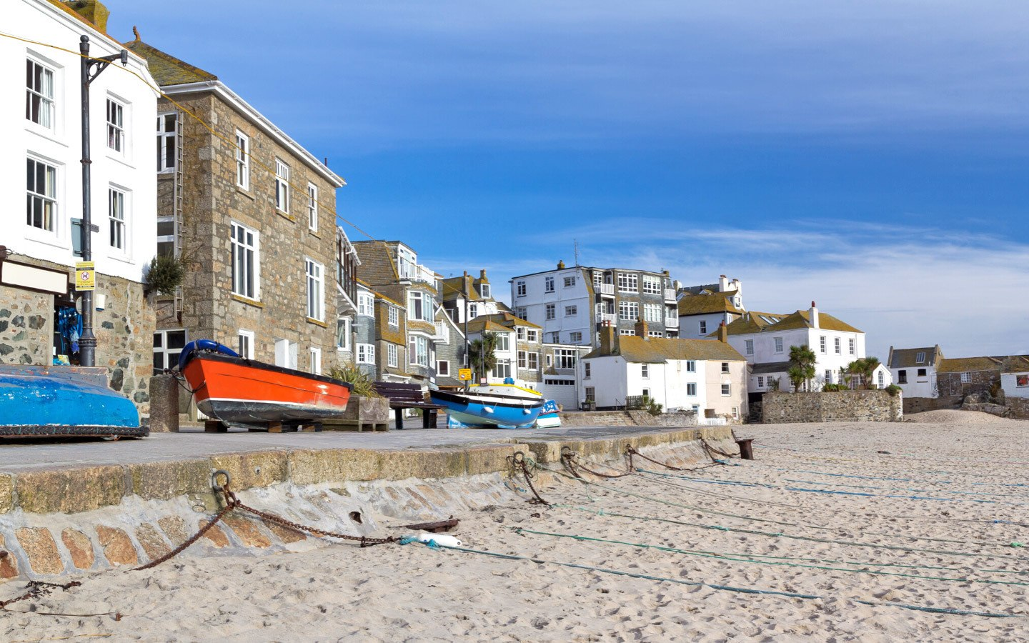 Beachfront in St Ives, Cornwall