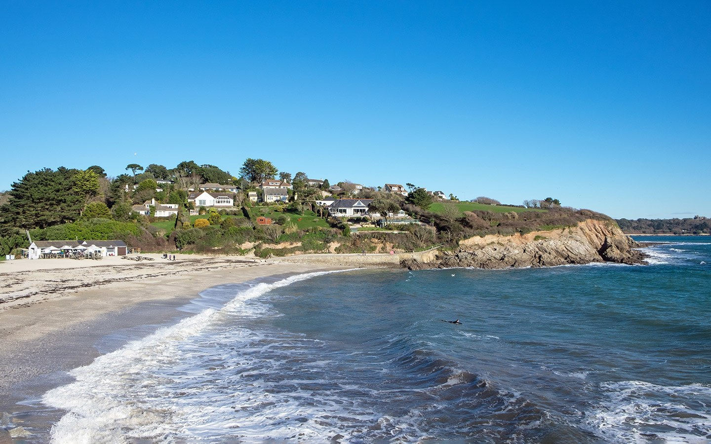 Swanpool Beach in Falmouth, Cornwall