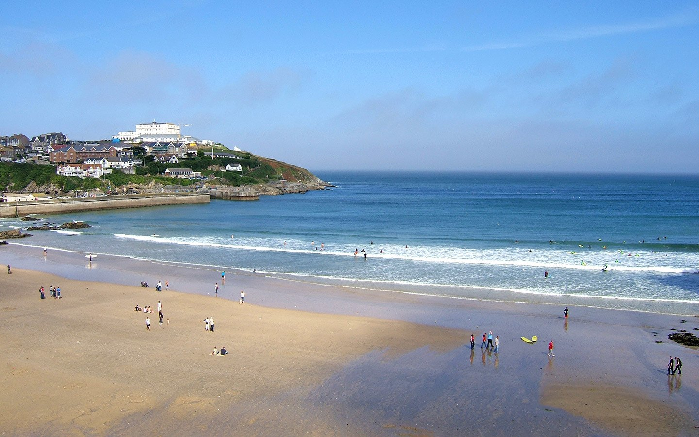 Towan Beach in Newquay Cornwall