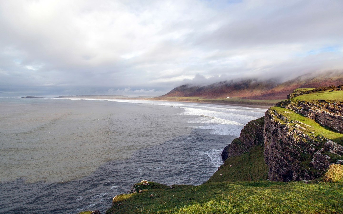Rhossili Bay in the Gower Peninsula in South Wales