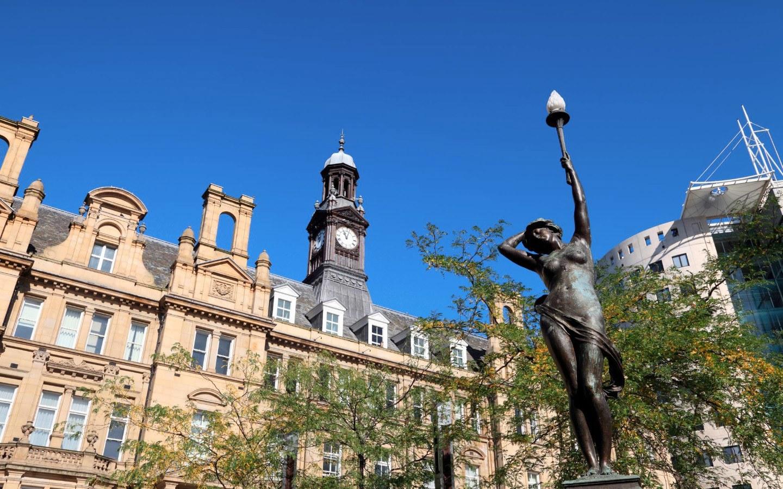 Drury Dame statue in Leeds, Yorkshire