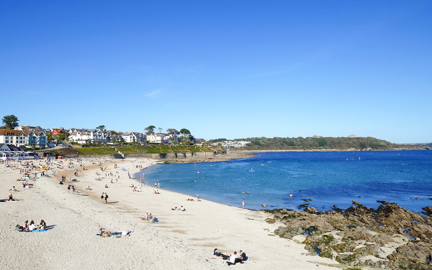 Gyllngvase Beach in Falmouth Cornwall