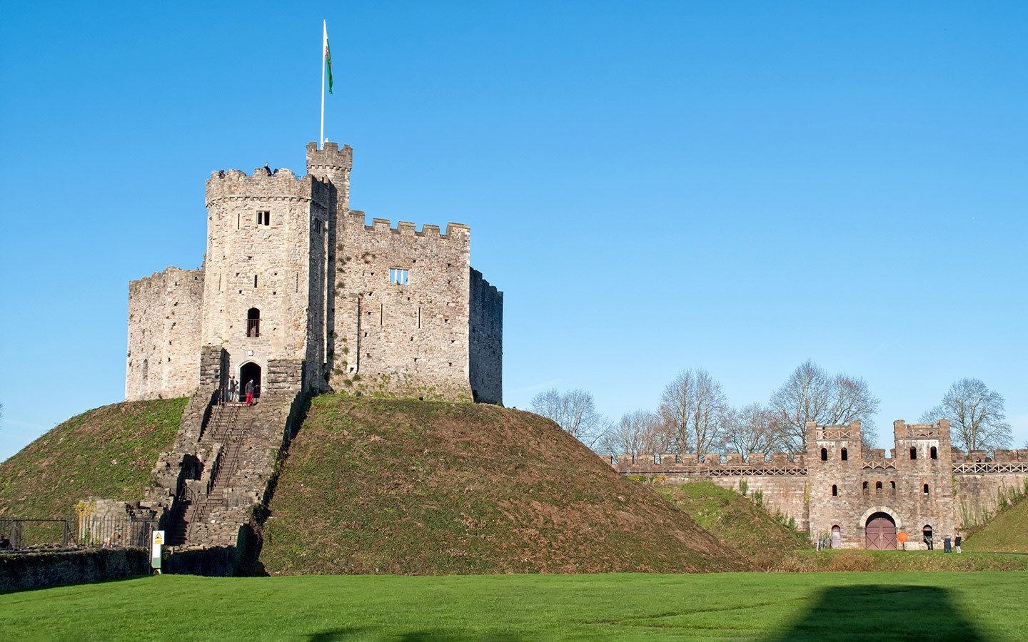 Cardiff Castle keep in Wales