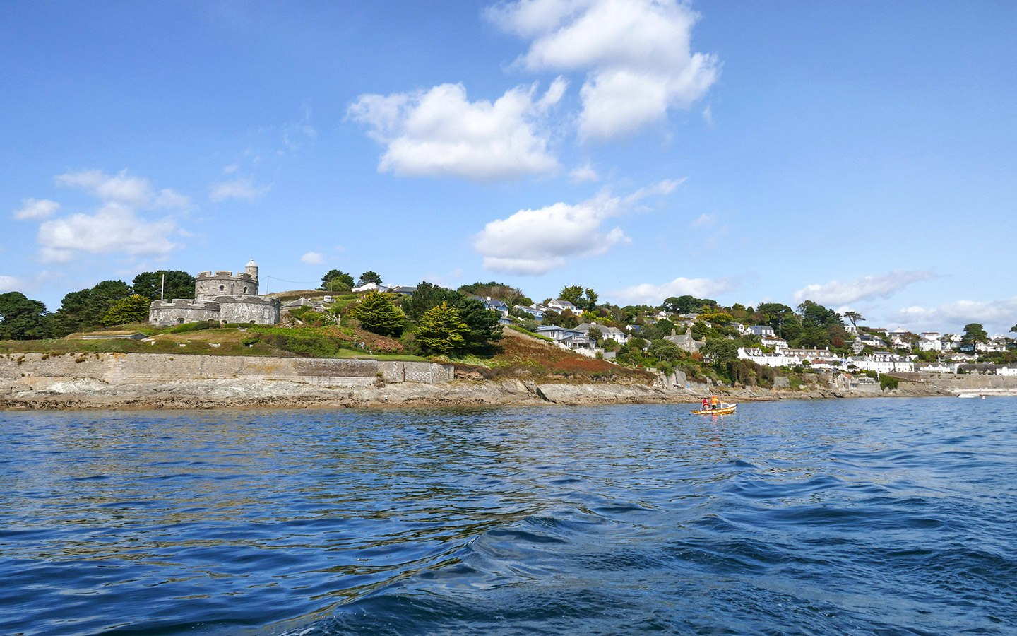 St Mawes Castle and coastline