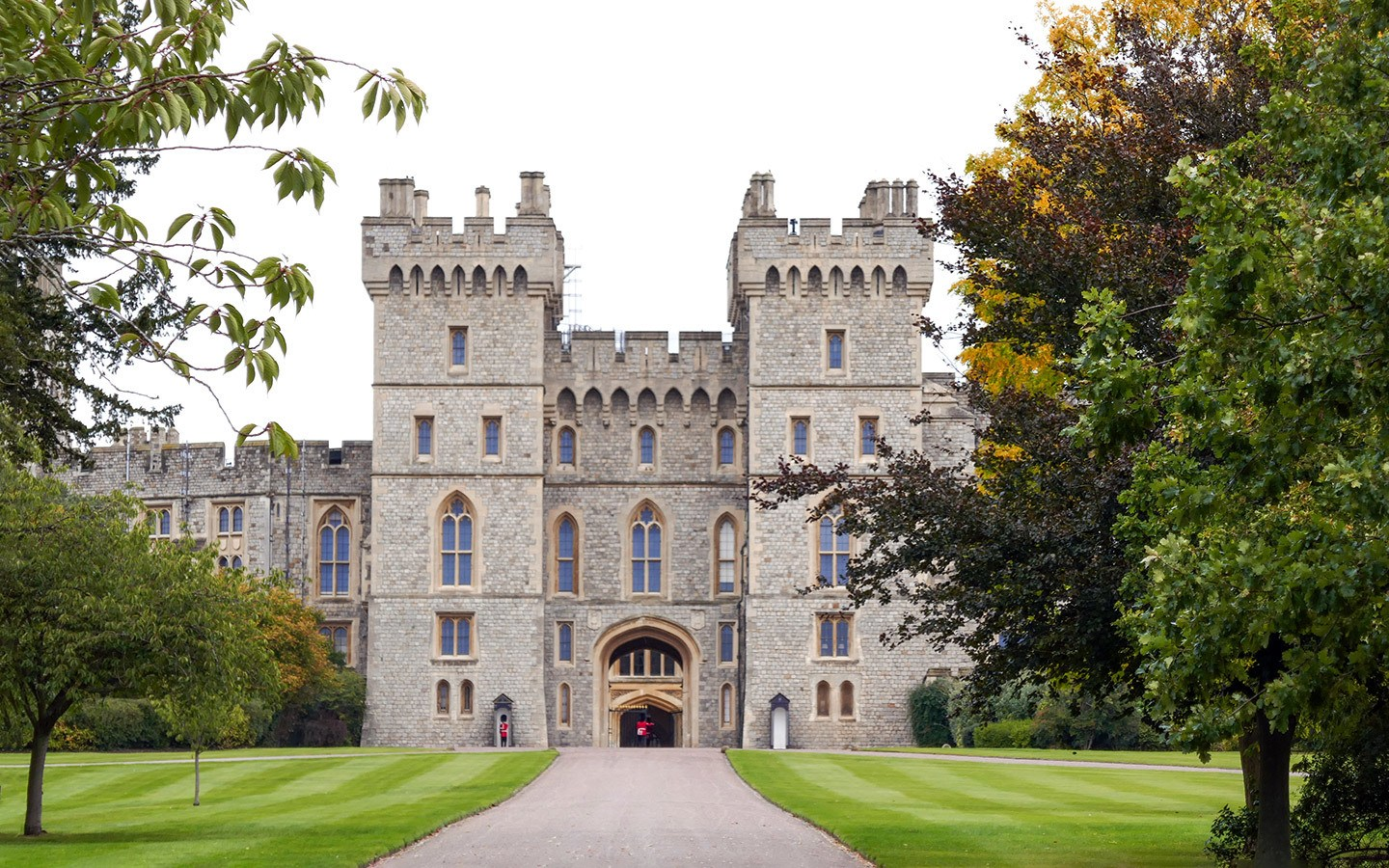 Windsor Castle from the George IV Gate in Windsor Great park