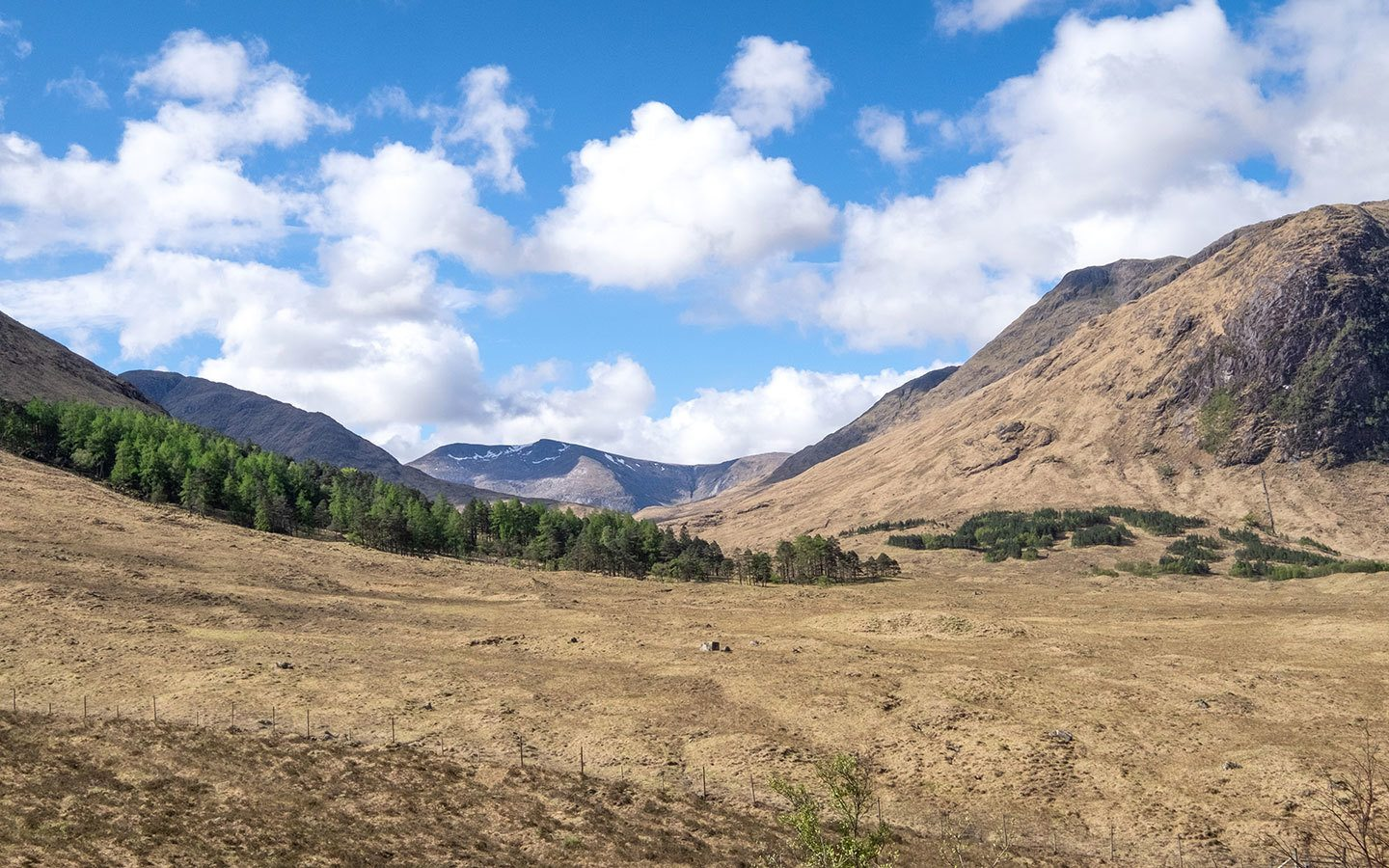 Views along the Glen Etive road in the Scottish Highlands