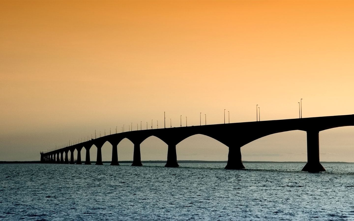 The Confederation Bridge from New Brunswick to Prince Edward Island