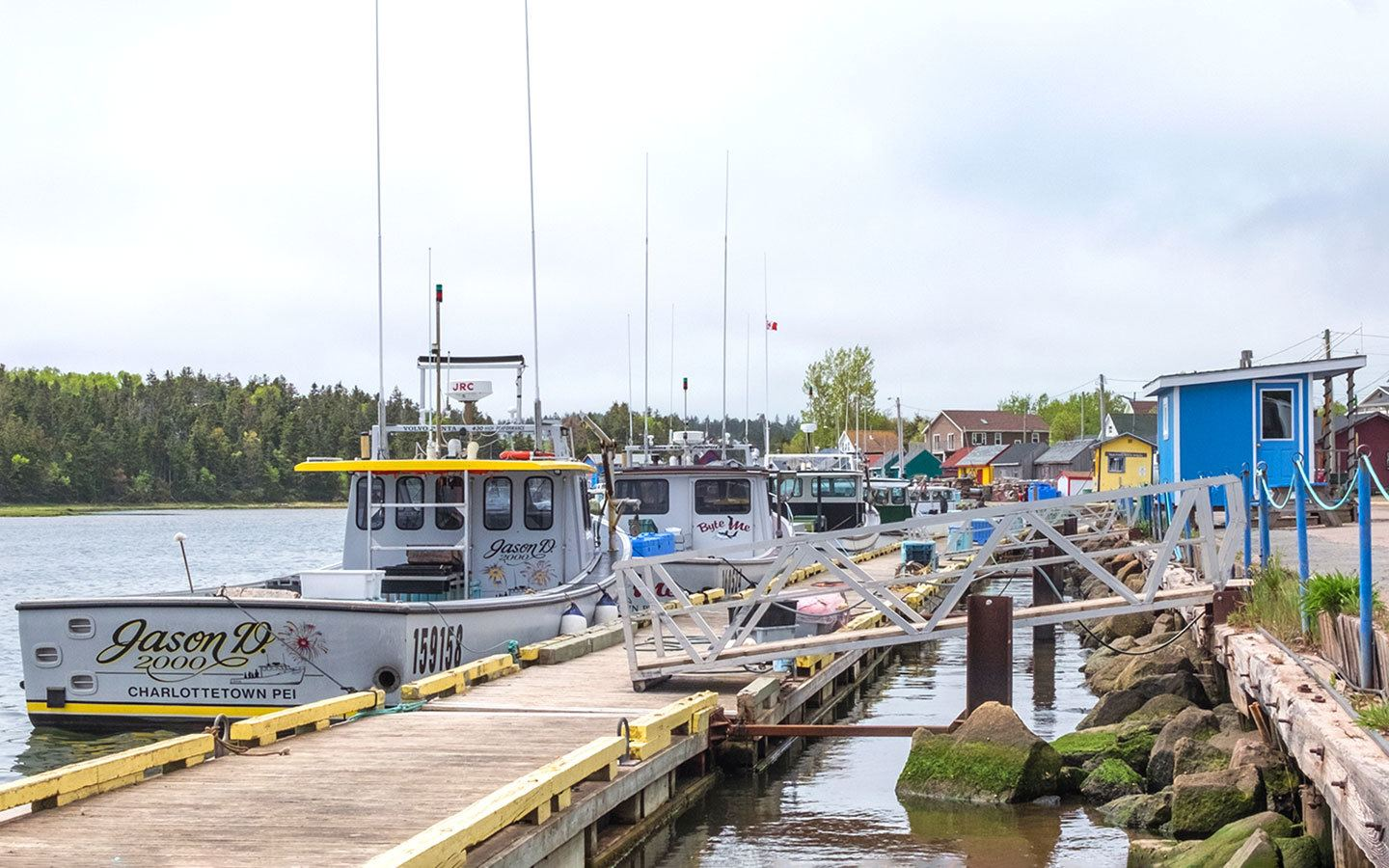 Colourful fishing villages in Prince Edward Island, Canada