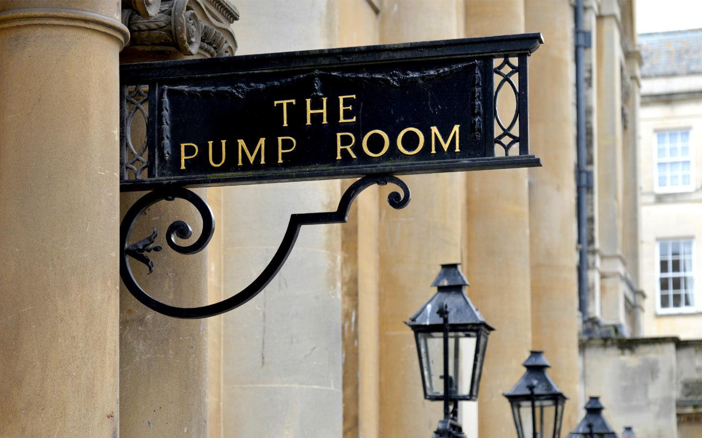 Entrance to the Pump Room in Bath