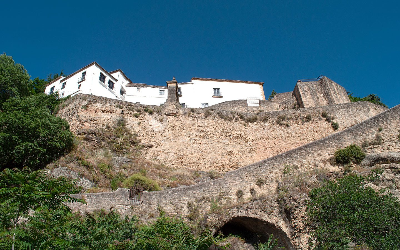 Historic city walls in Ronda, Andalusia