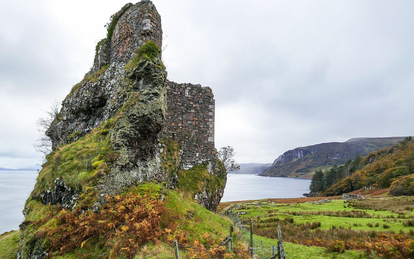 Visiting Brochel Castle ruins on a day trip to Raasay island in the Inner Hebrides, Scotland
