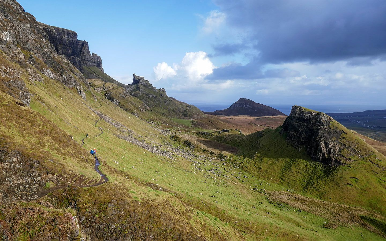 Walking the Quiraing Trail on the Isle of Skye