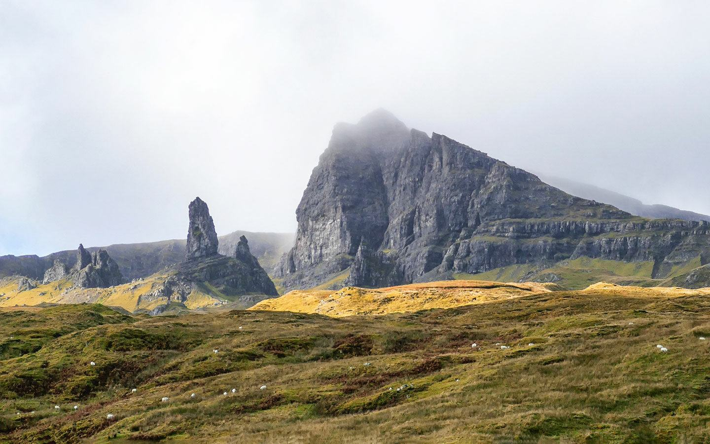 The Old Man of Storr rock formation on the Isle of Skye