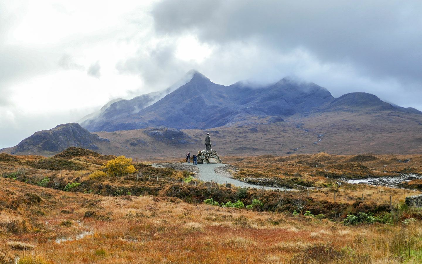Views of the Cuillin Mountains from Sligachan, Isle of Skye