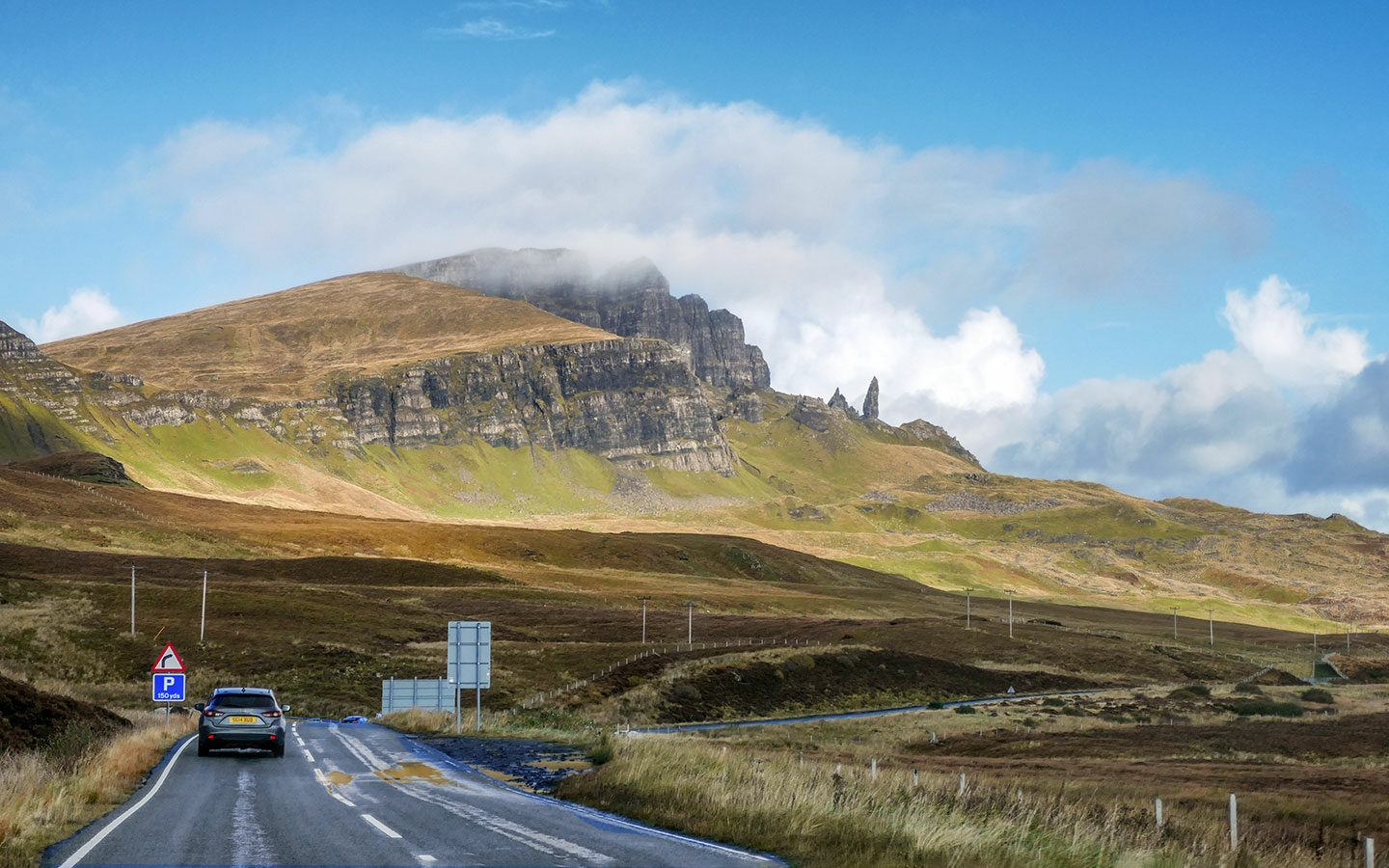 Driving the Trotternish Loop scenic road trip on the Isle of Skye