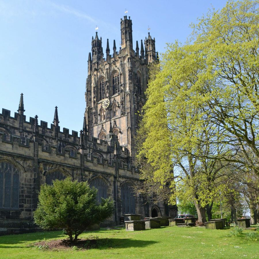 St Giles' Church in Wrexham, Wales
