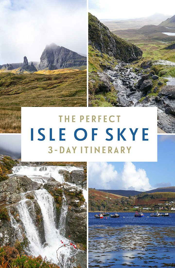 A three-day Isle of Skye itinerary taking in the island's highlights along with a few lesser-known spots, featuring a bit of everything which makes this island so special – dramatic rock formations, waterfalls, walks, castles and cosy pubs | Isle of Skye itinerary | Things to do on the Isle of Skye | Isle of Skye travel guide | Isle of Skye Scotland | Places to visit in Scotland