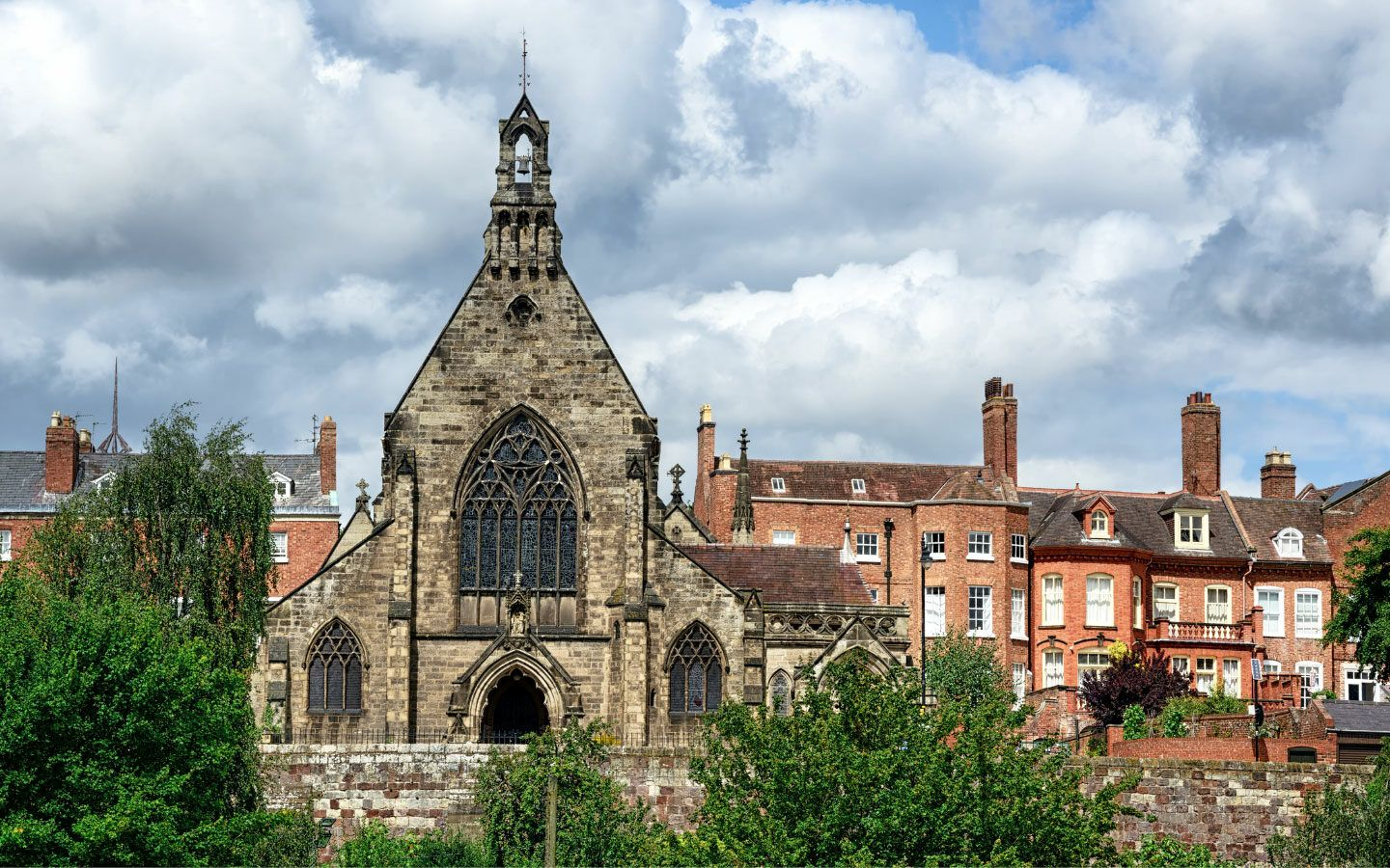Shrewsbury cathedral on the Welsh Borders