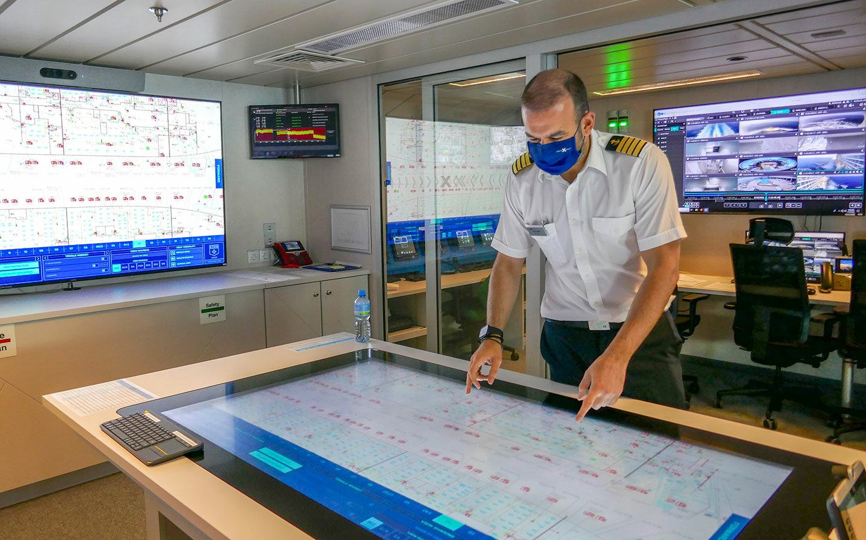 Behind the scenes on the bridge – crew member on board Celebrity Apex