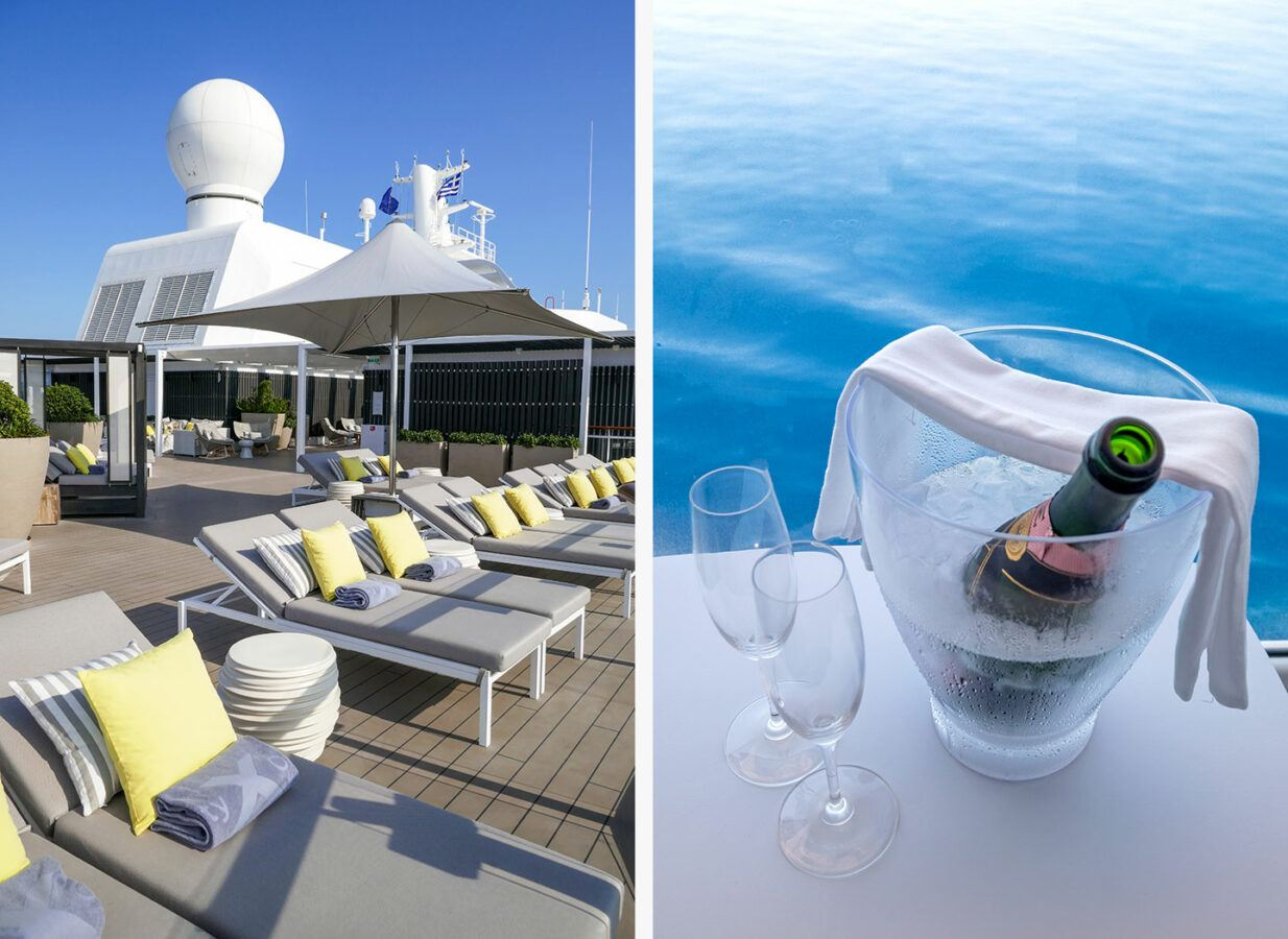 The Retreat Sundeck and Champagne on board Celebrity Apex
